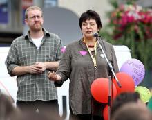 Martin Ander a Džamila Stehlíková na Qeer Parade