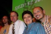 Zleva Jiří Škoda, Martin Bursík, Džamila Stehlíková a Josef Pova