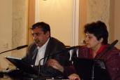 Džamila Stehlíková a Ivan Veselý z Rady pro záležitosti romské komunity