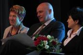 Presidentka 7. kongresu pediatrů Prof. Hrstková, ministři Julínek a Stehlíková