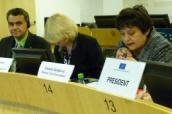 Džamila Stehlíková a Roman Haken na sociálně ekonomickém fóru v Bruselu