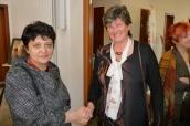 Ministryně Džamila Stehlíková vyjádřila symbolicky, podáním ruky, podporu Ivě Kondýskové, ošetřovatelce, která léčila bolest