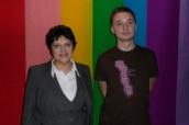Džamila Stehlíková a Aleš Rumpel, ředitel festivalu Mezipatra