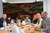 Jednání na radniciv Litvínově: M. Podlaha, D. Stehlíková, J. Homonai, M. Šťovíček, M. Klika, Z. Klimpl (osadní výbor, Janov)