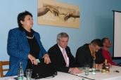 Džamila Stehlíková na setkání města a občanů o společné strategii romské integrace