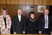 V Přerově na magistrátě: Šárka Krákorová Pajůrková, náměstkyně primátora, primátor Jiří Lajtoch, ministryně Džamila Stehlíková, Marek Podlaha, ředitel Agentury