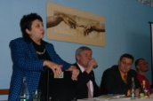 Dzamila Stehlikova at a meeting in Litvinov