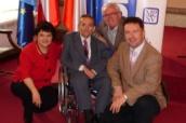 Džamila Stehlíková, Václav Krása, Martin Dederichs a Pavel Hříbek prezentovali euroklíč českým mediím a veřejnosti
