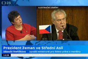 Stehlíková kritizuje politiku prezidenta Zemana