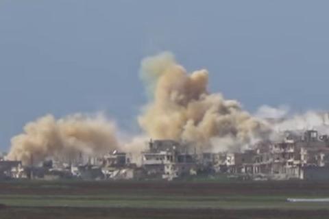 Ruské bombardování v Sýrii