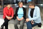 Džamila Stehlíková, Petruška Šustrová a Břetislav Rychlík v Dněpropetrovsku