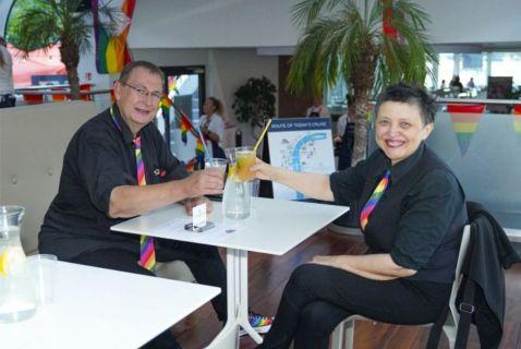 Prague Pride 2020. Jiří Hromada a Džamila Stehlíková